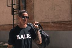Fernando is wearing our classic brand t-shirt and our leather weekender! check out www.balr.com #LIFEOFABALR #FERNANDOTORRES #TORRES #BALR #SPAIN