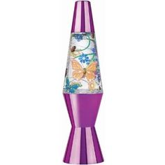 Mystical Glitter Butterflies Lava Lamp