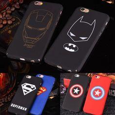 Brand Marvel Avengers Batman Superman Shield Case For iphone 6S Plus 6 7 Plus 5 5S Matte Hard Phone Cases Back Cover Fundas Capa