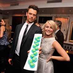 Josh Duhamel and Julianne Hough at the Safe Haven after party #bakedbymelissa
