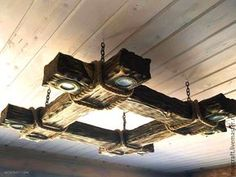 Antique wood chandelier - buy or buy- Люстра из дерева под старину – купить или за… Antique wood chandelier – buy or order in the online store at the Fair of Masters Rustic Lighting, Cool Lighting, Easy Woodworking Projects, Woodworking Plans, Woodworking Chisels, Woodworking Supplies, Wood Chandelier, Reclaimed Wood Projects, Wooden Lamp