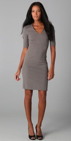Simple, but really flattering. Stunning with an orange or acid yellow necklace.