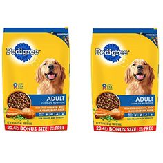 PEDIGREE Complete Nutrition Adult Dry Dog Food Bonus Bags, XCfRSL Chicken,2 Pack (20.4 lbs.) - You can click image for more details. (This is an affiliate link and I receive a commission for the sales)