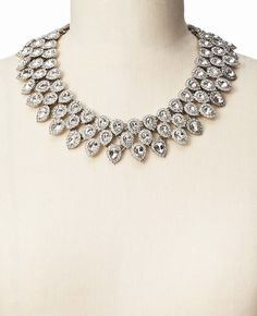 Crystal Cascade Statement Necklace | Ann Taylor