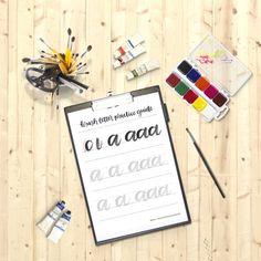 brush lettering practice guide