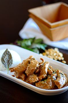 """Peanut Panang Beef Curry - just need to find """"wild lime leaves"""". Maybe for the CO visit next week."""