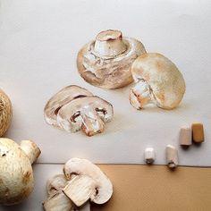 За несколько минут до супа #грибы #пастель #иллюстрация #иллюстратор #арт #softpastel #softpastels #illustration #illustrator #art #artist #mushrooms