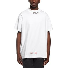 Mock neck t-shirt from the F/W2016-17 Off-White c/o Virgil Abloh collection in white