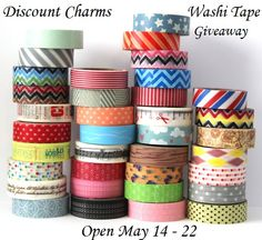 Knick of Time: Discount Charms Washi Tape GIVEAWAY - May 14-22