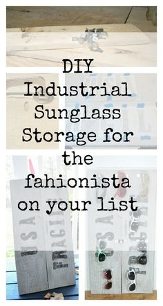 Have a fashionista on your Christmas list? DIY this industrial sunglass storage for around $20!