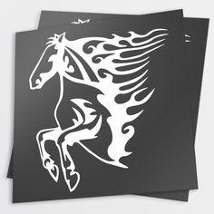 Adesivo Cavalo Tribal 01