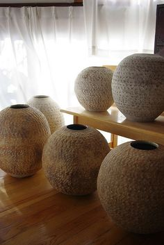 pot pot by hinomaru, via Flickr..... These are so beautiful. Maybe one could be reproduced using an exercise ball. Mine definitely could use some regular use.
