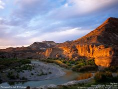 Big Bend National Park, Texas is the largest protected area of Chihuahuan desert topography in the United States