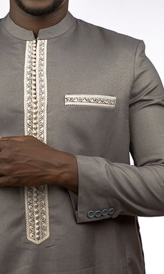 Kiba Col Mao Non Brodé African Wear Styles For Men, African Shirts For Men, Ankara Styles For Men, African Dresses Men, African Attire For Men, African Clothing For Men, Nigerian Men Fashion, Indian Men Fashion, Mens Fashion Wear