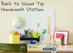 Help your child succeed by giving them a space to complete their homework at home.