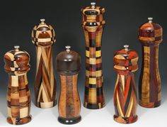 Handcrafted Wood Pepper Mills by G3 Studios. American Made. 2013 Buyers Market of American Craft. americanmadeshow.com