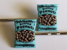 Little Bag of Peanuts Bobby Pin Hair Clips by DangerouslySweet, $7.00