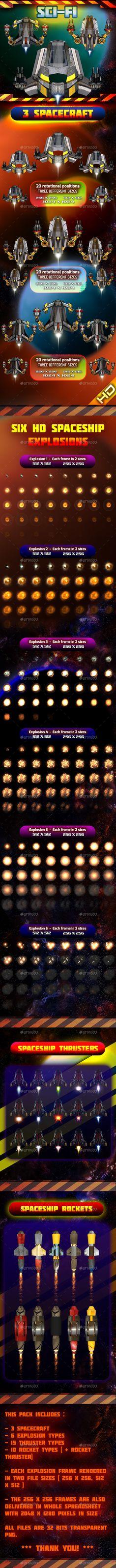 Spaceship Pack 33 - Sprites #Game Assets Download here:  https://graphicriver.net/item/spaceship-pack-33/15887045?ref=alena994