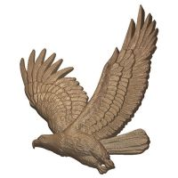 99714 - Eagle Flying (1)-3D Model Club - Dimensional Art for CNC users