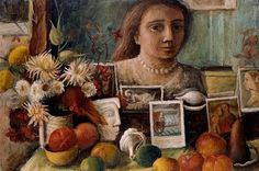 In this early self-portrait, Margaret Olley surrounds herself with the things that would preoccupy her throughout her career: the fruits, flowers and exotic objects that she collected about her at home. Her tribute to past great masters of art, seen . Australian Painters, Australian Artists, Art And Illustration, Brisbane, Selfies, Aboriginal Art, Artist Names, Female Art, New Art