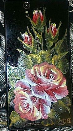 One Stroke, Rose, Plants, Painting, Decor, Paint Flowers, Painted Flowers, Draw, Pink
