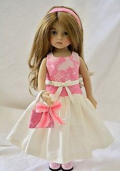 "OOAK Silk Dress Ensemble for Effner 13"" Little Darling Doll Betsy 14"" Dolls"