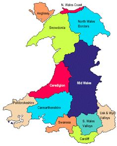 The 16 best Maps of Wales images on Pinterest | England, Wales map ...