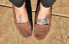 comfy brown moccasins