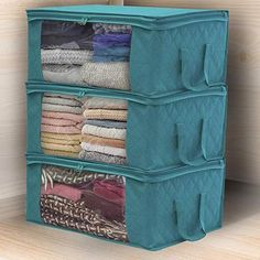 Foldable Storage Baskets for Organizing Home, Clothes, Shelf, Gifts, Baby Nursery, Closet, Towel, Laundry Storage Bin - Home OrganizerProduct information: Color: Blue, GraySize: 49x36x21cm (approximately 19x14x8 inches), Folding Size 30x25x2cm (approximately 12x10x1 inches)Material: Non-Woven FabricsFeature:Clear Window: You can easily know what is inside with the clear windowMaterial: Made of non-woven fabric, durable and long service lifeHandle: Easy to carry and take away with the…