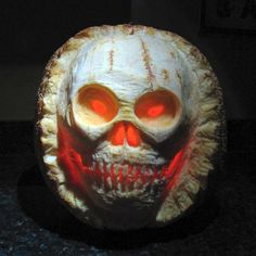 Spooky Skull from the 2013 Pumpkin Carving Contest