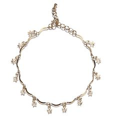 Star Charms Hanging 18k Plated Gold Golden Anklet Chain for Feet Decoration