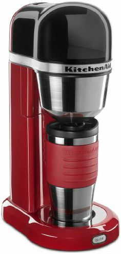 KitchenAid   Coffee Maker With Multifunctional Thermal Mug In Contour  Silver Finish   Easy To Use One Cup Brewing System Creates A Single Cup Of  Copy In ...