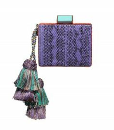 Tonya Hawkes Kika Clutch - Exotic patterned and printed accessories to inspire a stylish wanderlust. http://shop.harpersbazaar.com/in-the-magazine/pattern-play