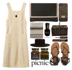 """""""Picnic"""" by juliehalloran ❤ liked on Polyvore featuring London Road, Dune, HEX, Billabong, Picnic at Ascot, Sephora Collection, Janessa Leone, AMBRE and Deborah Lippmann"""