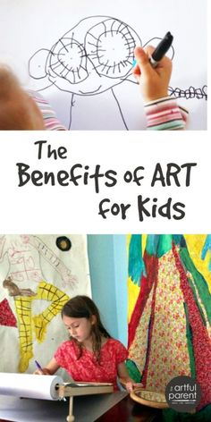 The benefits of art for kids are many and include problem-solving abilities… Preschool Art Projects, Art Activities For Kids, Projects For Kids, Art For Kids, Time Activities, Importance Of Art, Art Curriculum, Arts Ed, Art Classroom
