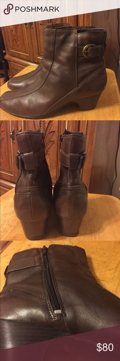 Genuine Leather Boots Cute Brown Boots Clarks Shoes Ankle Boots & Booties