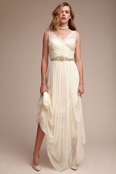 Fleur dress at BHLDN. I tried this on when in Chicago its comfy and only $250! prob versatile eith accessories.