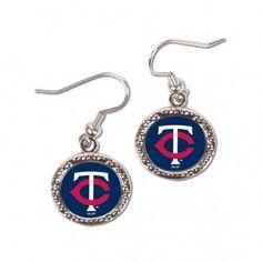 Minnesota Twins Earrings Round Design #MinnesotaTwins