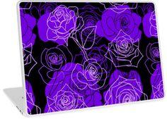 Enchantment - Purple Roses Floral Pattern | Design available for PC Laptop, MacBook Air, MacBook Pro, & MacBook Retina