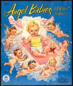 """Angel Babies"", also called ""Heavenly Twins and Their Guardian Angels"" by artist Louise Rumely."