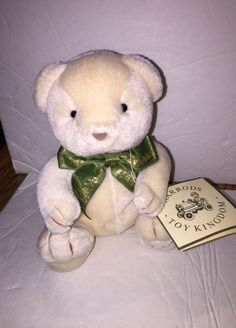 Vintage HARRODS Teddy Bear ~ Mini Size 6u201d ~ With Hang Tag ~