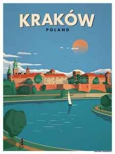 Krakow Poster by IdeaStorm Studios ©2017. Available for sale at ideastorm.bigcartel.com
