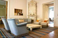 Decorative tiled stove / Koristeellinen kaakeliuuni