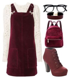 """""""Red"""" by kyalumomo on Polyvore featuring A.L.C., Topshop and Vanessa Mooney"""