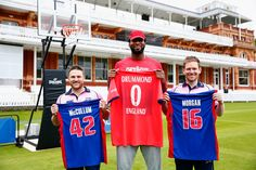 NBA All-Star Andre Drummond visited Lord's Cricket Ground yesterday to meet England one day captain Eoin Morgan and New Zealand star Brendon McCullum to learn how to play cricket and to show the cricketers the ropes on the basketball court. During the visit McCullum and Drummond combined for the wor