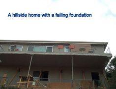Experienced and trained in hillside foundation repair. Basement Waterproofing, Foundation Repair, Bob Vila, Basement Walls, Real Estate, Construction, Exterior, Retaining Walls, Decks