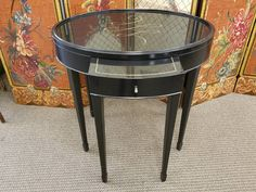 Sofa Back Etagere See More Barbara Barry For Baker Oval End Table Originally 7920 Now Ing At Chic Simple