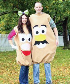 Easy DIY Couples Halloween Costume Idea: Mr. and Mrs. Potato Head