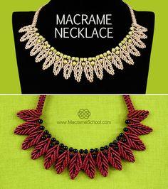 DIY Macrame Petal Chain Necklace - http://youtu.be/zwuB1ymRzmg