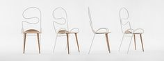 atelier deshaus manually curves the backrest and legs of sylph chair